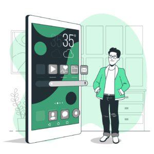 drzwiczki smartphone